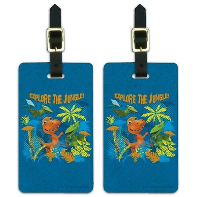 Explore the Jungle Dinosaur Train Luggage ID Tags Carry-On Cards - Set of -