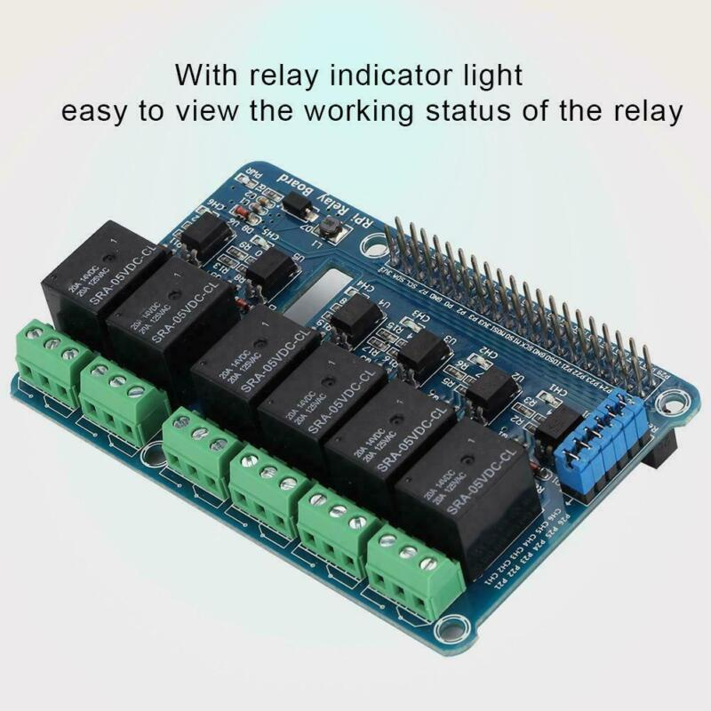 6 Channel RPi Relay Module Expansion Board 40Pin for Raspberry Pi 3 2 A+B+2B 3B
