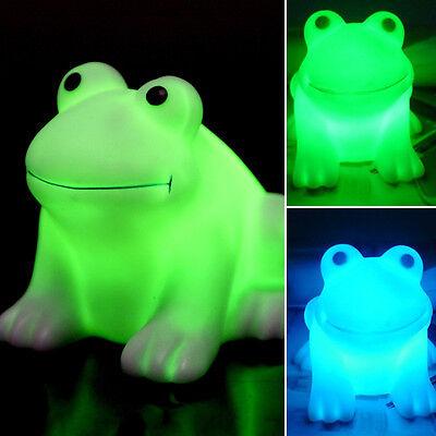 Magic Colorful Color Changing LED Night Light Frog Shape Lamp Room Bar Decor Hot
