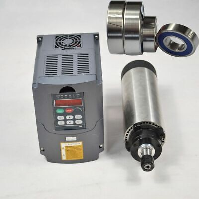 Used Four Bearing1.5kw Er11 Air-cooled Spindle Motor 1.5kw Hy Inverter Drive Vfd
