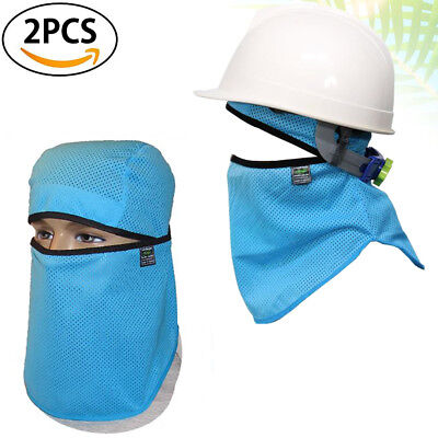 2p Hard Hat Sweatband Sun Shield Full Face Protection Helmet Cool Mask Balaclava