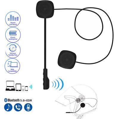 Motorcycle Helmet Wireless Headset, Bluetooth 5.0 Intercom Headphone Stereo UK