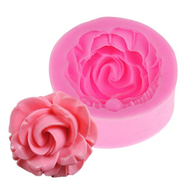 3D Silicone Rose Flower Fondant Mould Cake Chocolate Decorating Baking Mold Tool