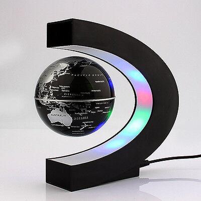 LED World Map Floating Globe Magnetic Levitation Light Antigravity Magic Novel