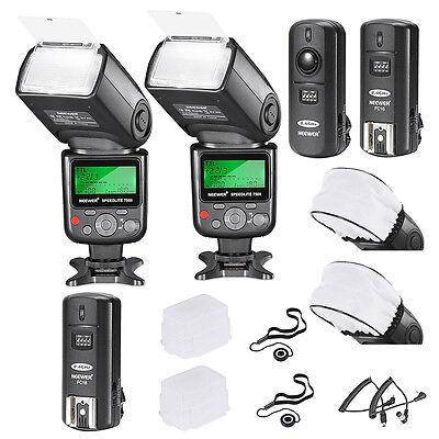 Neewer VK750II i-TTL Speedlite Kit for Nikon 2 Falsh + 2 Diffuser & Cap +Trigger