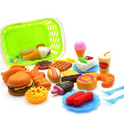 35 Lebensmittel Set Kinderküche Spielküche Spielzeug Zubehör Kaufladen Backwaren ()