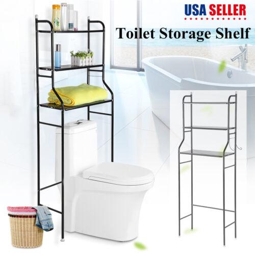3 Shelf Over The Toilet Bathroom Space Saver Metal Towel Sto