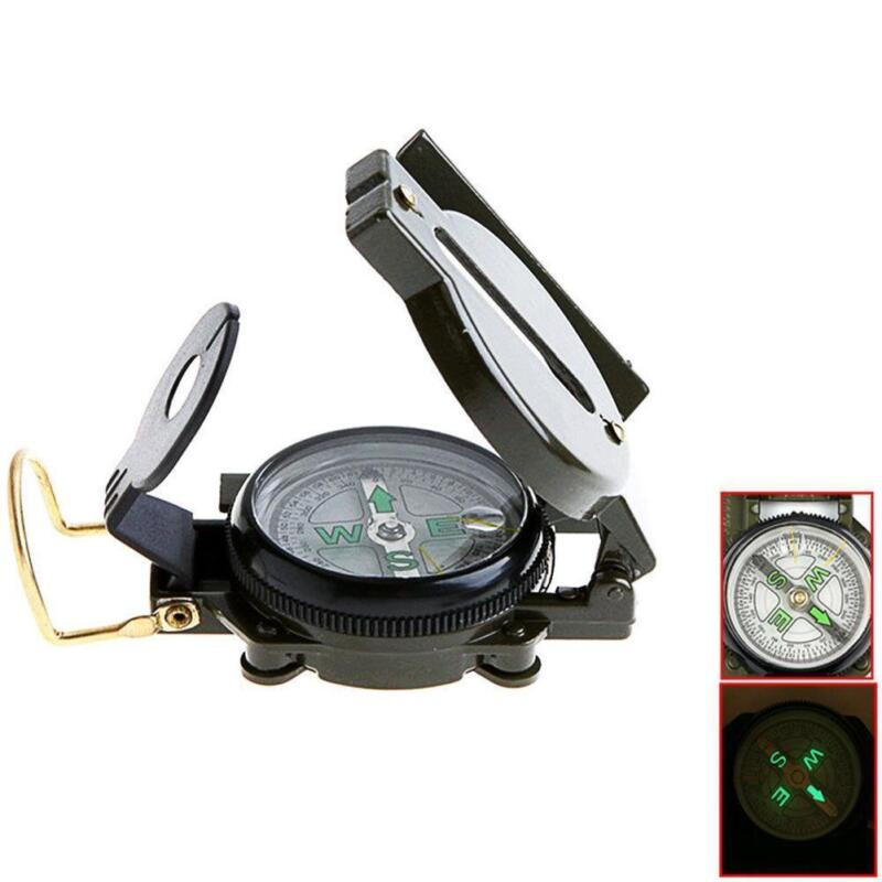 Outdoor Pocket  Military Army Hiking Camping Len Survival Lensatic Compass New