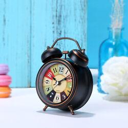 Battery Operated Analog Wake Up Quartz Alarm Clock Loud Vintage Non Ticking