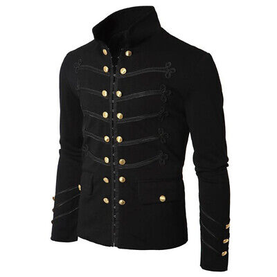 Medieval Long Sleeve Coat Steampunk Victorian Medieval Jacket Pirate Costume (Steampunk Pirate Coat)