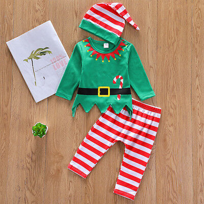 Christmas Outfit For Toddler Boy (Christmas Santa Claus Elf Cosplay Costume for Toddler Baby Girls Boy Outfits)