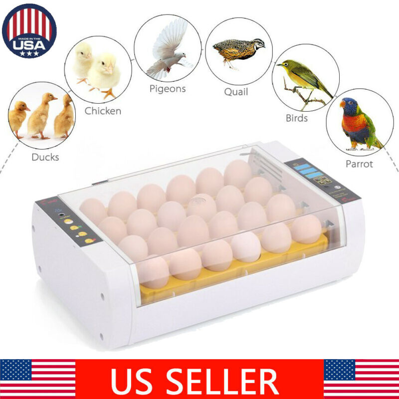 Digital 24 Eggs Incubator Hatcher Temperature Control Automatic Turning Chicken