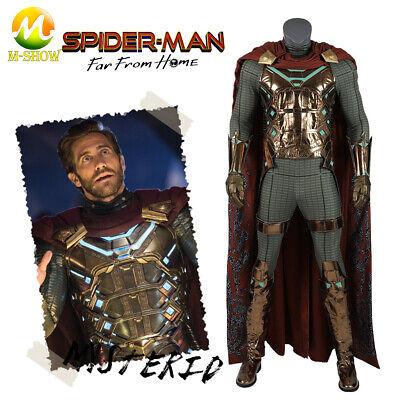 Spiderman Cos Mysterio costumes Quentin Beck bodysuit Superhero Jumpsuit cloak](Superhero Bodysuit)