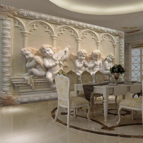 modern luxury 3d embossed angel wallpaper mural roll