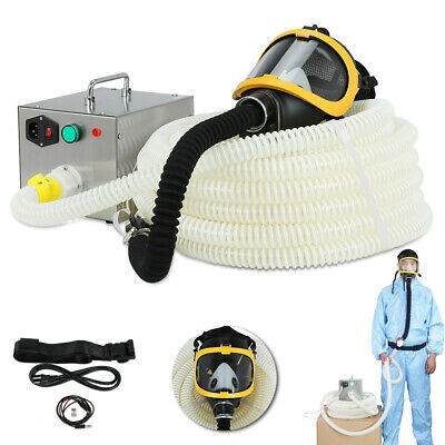 Constant Flow Airline Supplied Fresh Air Respirator System Full Face Gas Mask Us