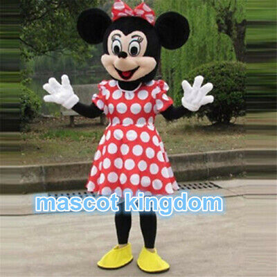 Adult Cartoon Costume (Hot Minnie Mouse Mascot Costume Cartoon birthday Party Fancy Dress Outfit)