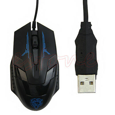 Hot USB Wired X5 3D Optical Gaming Game Mouse Mice 1600 DPI For Laptop PC