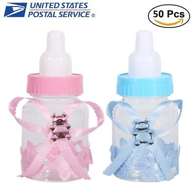 50Pcs Candy Chocolate Bottles Box For Baby Shower Party Favors Gifts