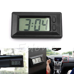 Universal Digital Clock For Interior Car-Truck-Bike-Scooter Dash Black New