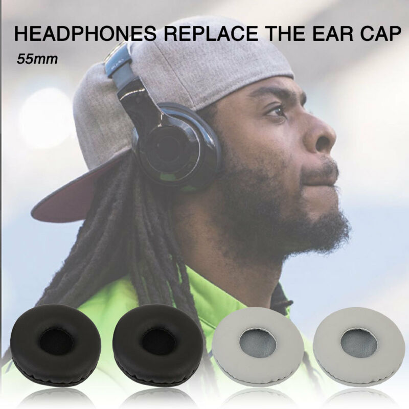 90mm 2PCS Black Cover Ear Pads Headset Parts Headphone Soft Replacement Earbuds