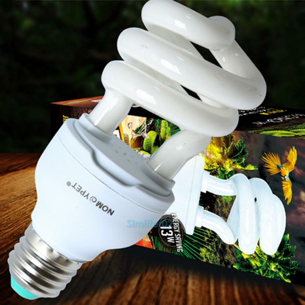 NEW UV UVB Light Compact Bulb Lamp Globe 5.0/10.0 13W Calciu