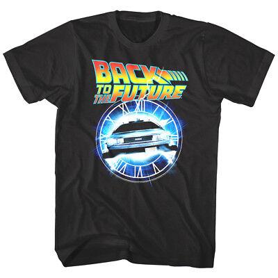 Back to The Future Time Travel Machine Clock Tower Men's T Shirt DMC