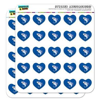 Great White Shark Cartoon in Ocean Heart Planner Scrapbook Craft - Shark Craft