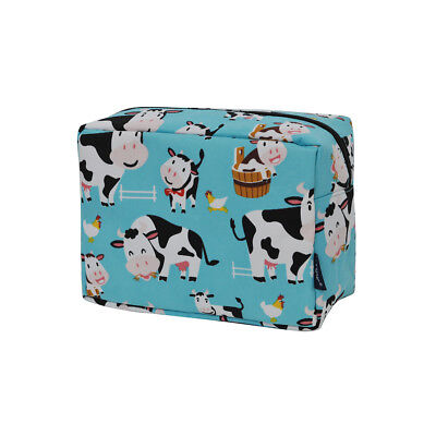 Cow In Town NGIL® Large Cosmetic Travel Pouch
