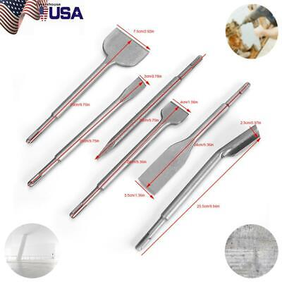 6pcs Rotary Hammer Chisel Sds Plus Electric Drill Bits Set For Concrete Drilling
