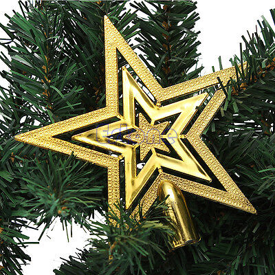 New Christmas Star Tree Topper For Home Party Holiday Ornament Decorations