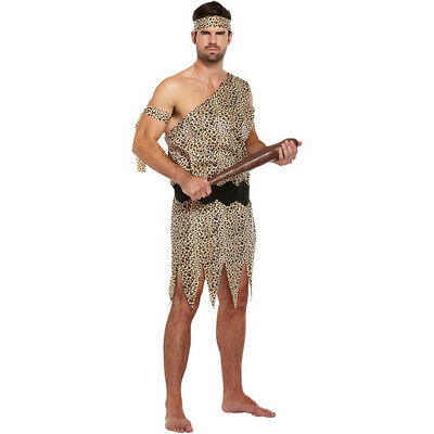 Mens Adult Fancy Dress - Caveman Costume - Halloween/New Year Party Cosplay