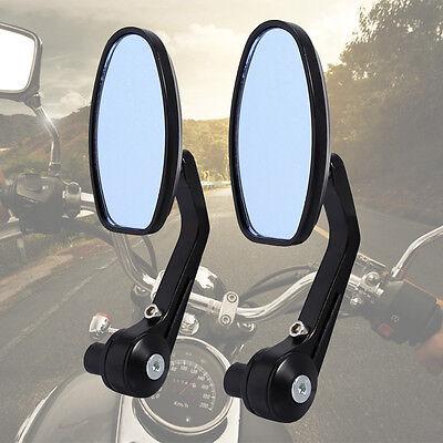 Paar Rückspiegel Spiegel Lenkerspiegel für Motorrad ATV Roller Schwarz BL 10