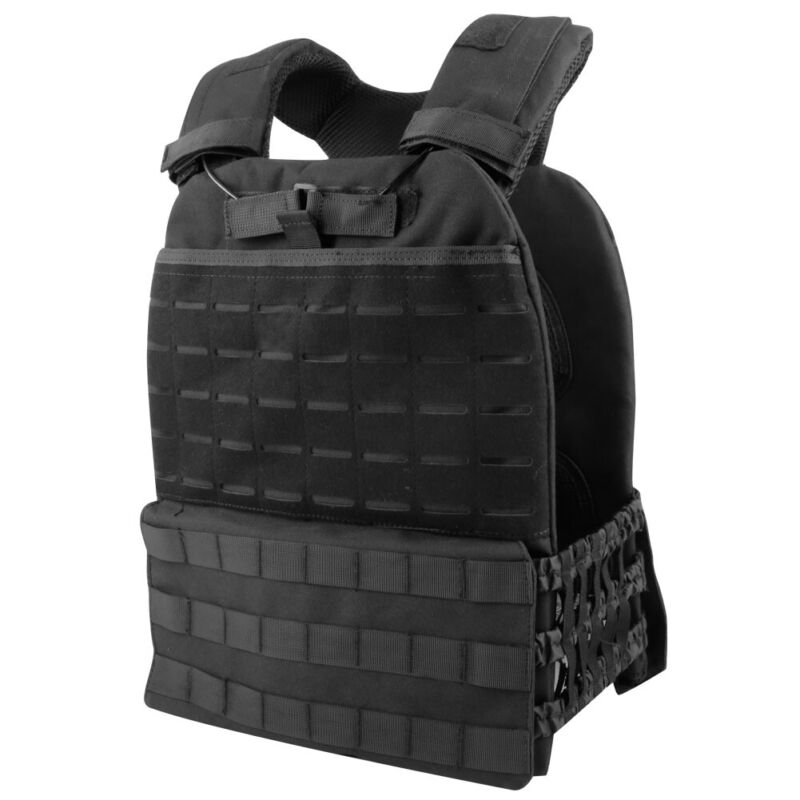 Tactical MOLLE CrossFit Vest Plate Carrier Adjustable Weighted Training Combat