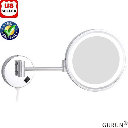 GURUN 8.5-Inch Adjustable LED Lighted Wall Mount Makeup Mirr