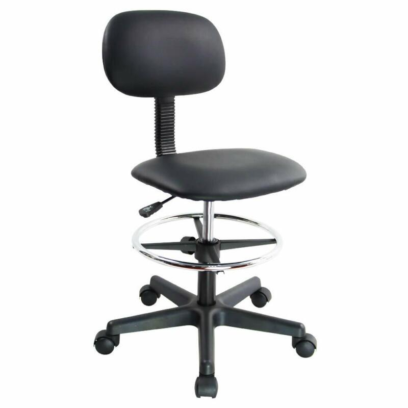 Pu Leather Drafting Chair Without Arm Low Back Office Task C