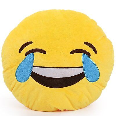 New EMOJI EMOTICON Pillow Plush LAUGHING WITH TEARS Yellow Dorm Room Toy gift](Laughing With Tears Emoji)