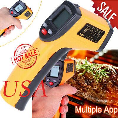No-contact Lcd-ir Laser Infrared Thermometer Digital Temperature Gun Pyrometers