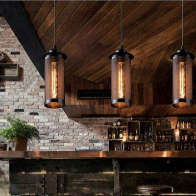 Hängeleuchte Eisen Pendelleuchte Metall Lampe Deckenleuchte Retro Edison Design (Edison Lampe Leuchte)