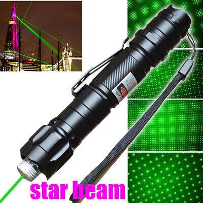 600 Miles Professional Green Laser Pointer Lazer Pen Star Cap Belt Clip Usa
