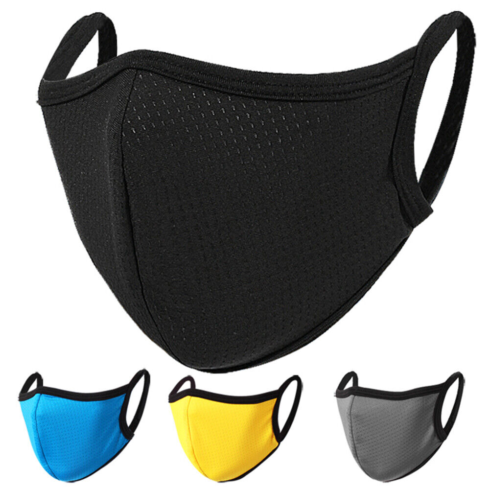 5 color Summer Face Cover Breathable Mask Reusable Washable For Men Women US Accessories