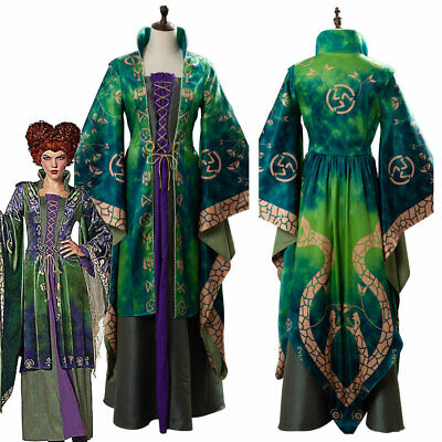 Hocus Pocus Cosplay (Hocus Pocus Winifred Sanderson Cosplay Costume Suit Halloween Dress)