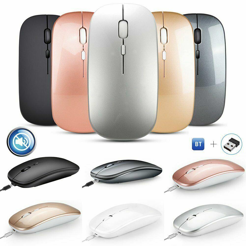Maus USB Kabellos Bluetooth Wireless Gaming Funkmaus 2.4Ghz Aufladbar Notebook