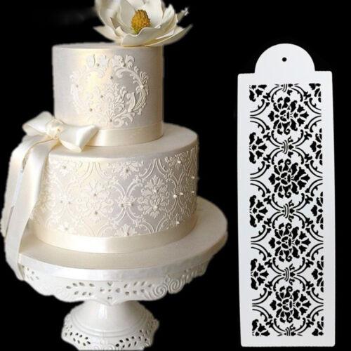 New Rectangle Lace Silicone Sugar Craft Fondant Mat Cake Decorating Mold Mould