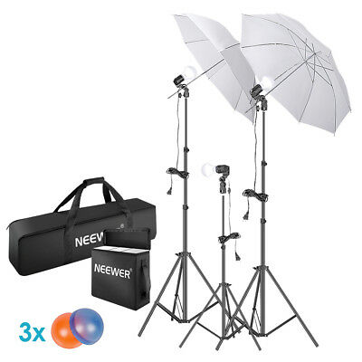 "Neewer 5500K Photo Studio Continuous Lighting Umbrellas Kit with 83"" Light Stand"