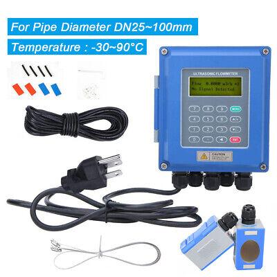 Ultrasonic Liquid Flow Meter Digital Flowmeter Rs485 Tuf-2000b Dn25mm To 100mm