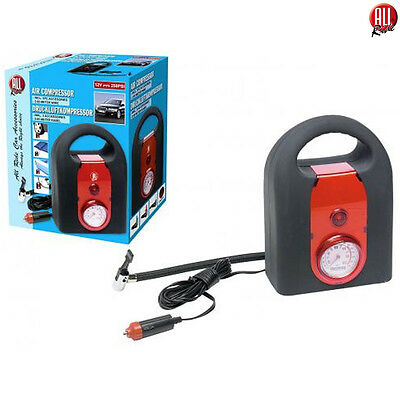 Compressore Ad Aria Portatile 12 V 250 Psi Per Auto Bici Con Accessori All Ride