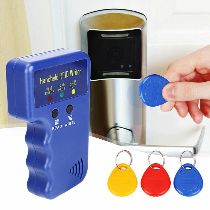 Handheld RFID 125KHz Duplicator Key Copier Reader Writer ID Card Cloner & key HQ