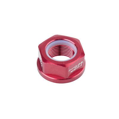 Tusk Nyloc Axle Nut M22X1.50 Red CRF250R CRF450R RMZ250 RMZ450 YZ450F YZ250