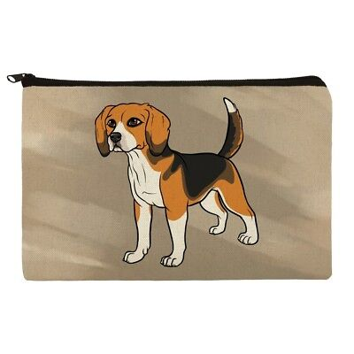 Beagle Pet Dog Makeup Cosmetic Bag Organizer Pouch