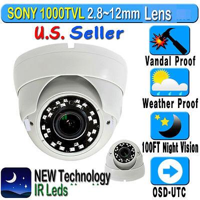 1200TVL HD 3.6mm Lens Dome Surveillance CCTV Security Camera IR Night Vision USA